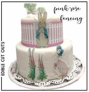 24 Personalised Peter Rabbit Cupcake Toppers Rice tranches Icing Precut Tranches