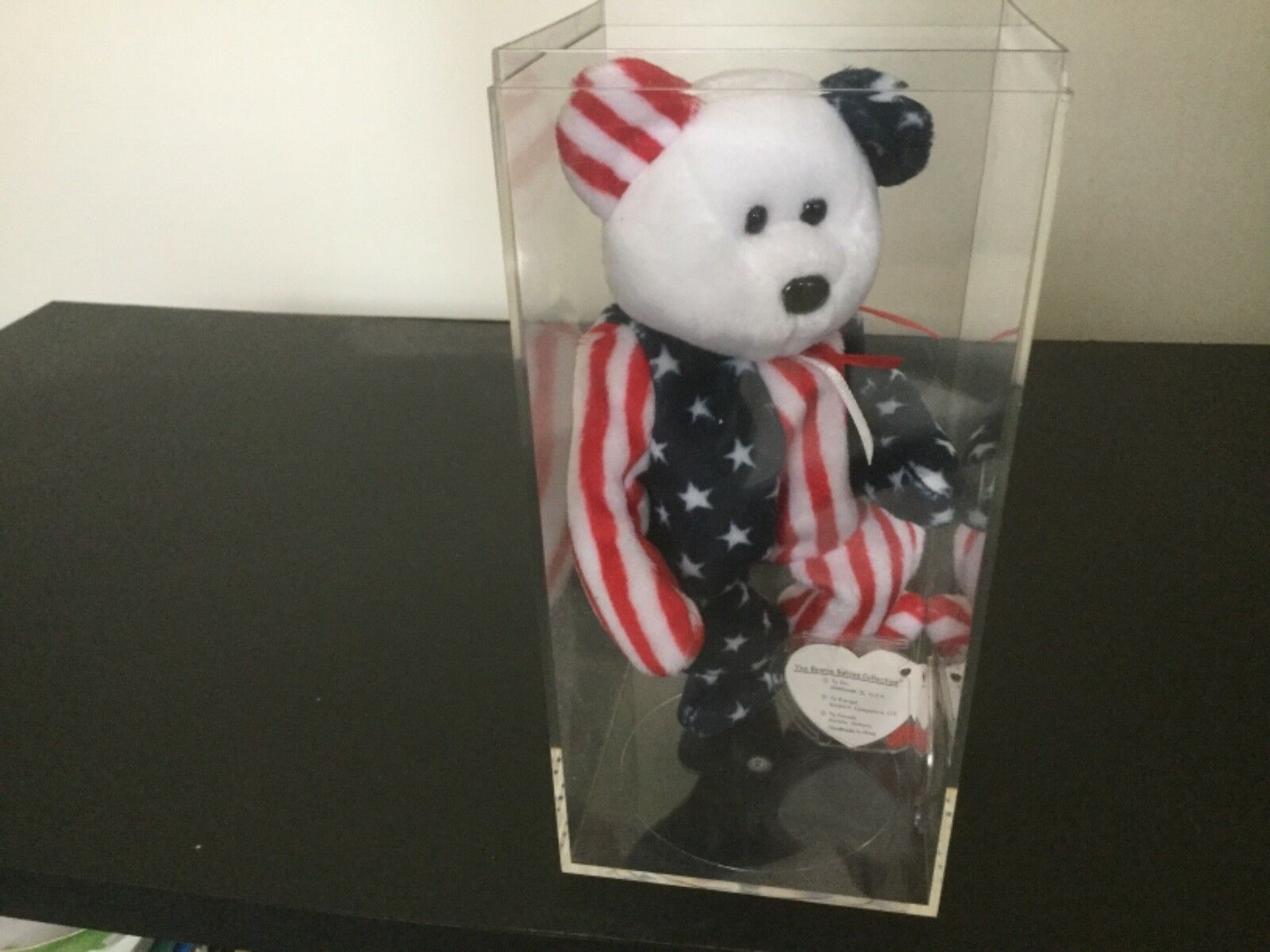 Ty Beanie Baby Spangle Spangle Spangle - MWMT (Bear White Head 1999) Patriotic a8e18c
