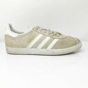 Adidas-Womens-Gazelle-BY9360-Beige-White-Running-Shoes-Lace-Up-Low-Top-Size-7
