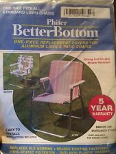 BETTER BOTTOM 1-Piece YELLOW Replacement Cover For Aluminum Lawn Patio Chair~NOS