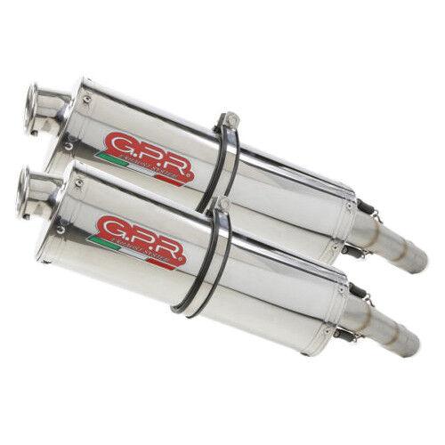 APRILIA PEGASO 650 1992/96 GA TUBO DE ESCAPE inoxidable trioval by GPR Italia