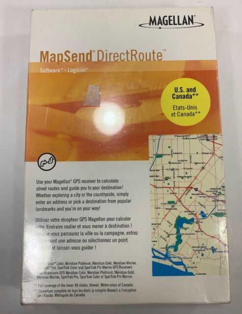 MAGELLAN MAPSEND DIRECT ROUTE - GPS USA and CANADA MAPS - LAKES AND RIVERS too!