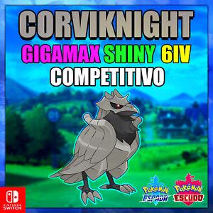 Corviknight-Gigamax-Shiny-6-IV-COMPETITIVO-Pokemon-Espada-Escudo-ENTREGA-RAPIDA