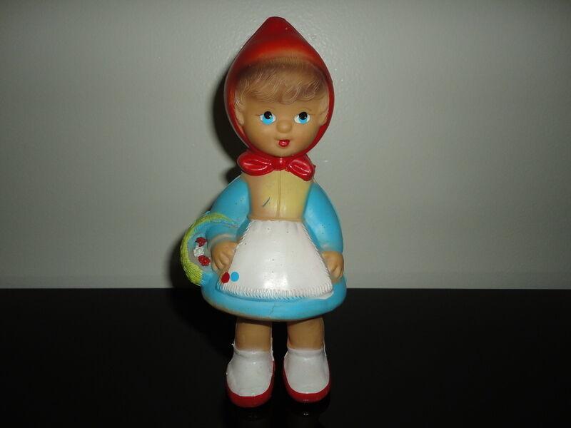 Little rojo Riding Hood Muñeca De Juguete De Colección Goma Squeaker 7.5  Art 150 funciona 100%