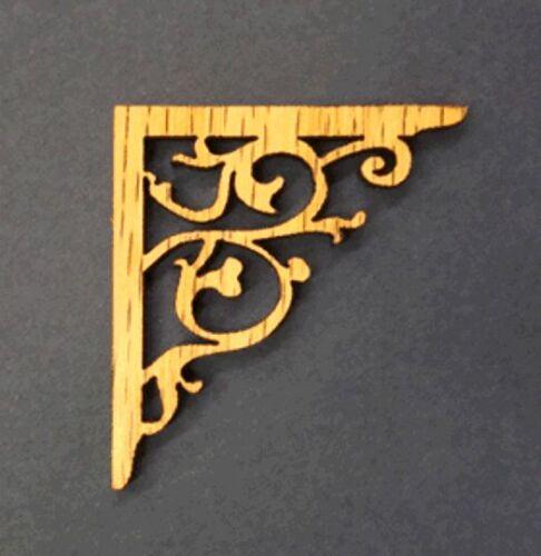 1:12  Scale  Dollhouse Miniature Solid Oak Victorian Corner Brackets