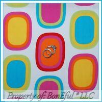 Boneful Fabric Fq Cotton Quilt Rainbow Bright Dot Vtg Block Lady African Hippie