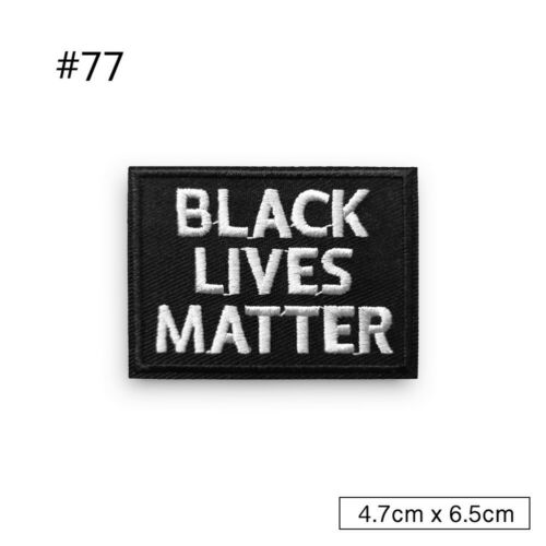 Black Word Slogan Embroidered Iron on Biker Saying Motorcycle Patch Fabric Badge