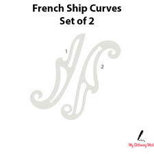 FRENCH SHIP CURVES SET OF 2 Curved Rulers Technical Drawing Stencil Template