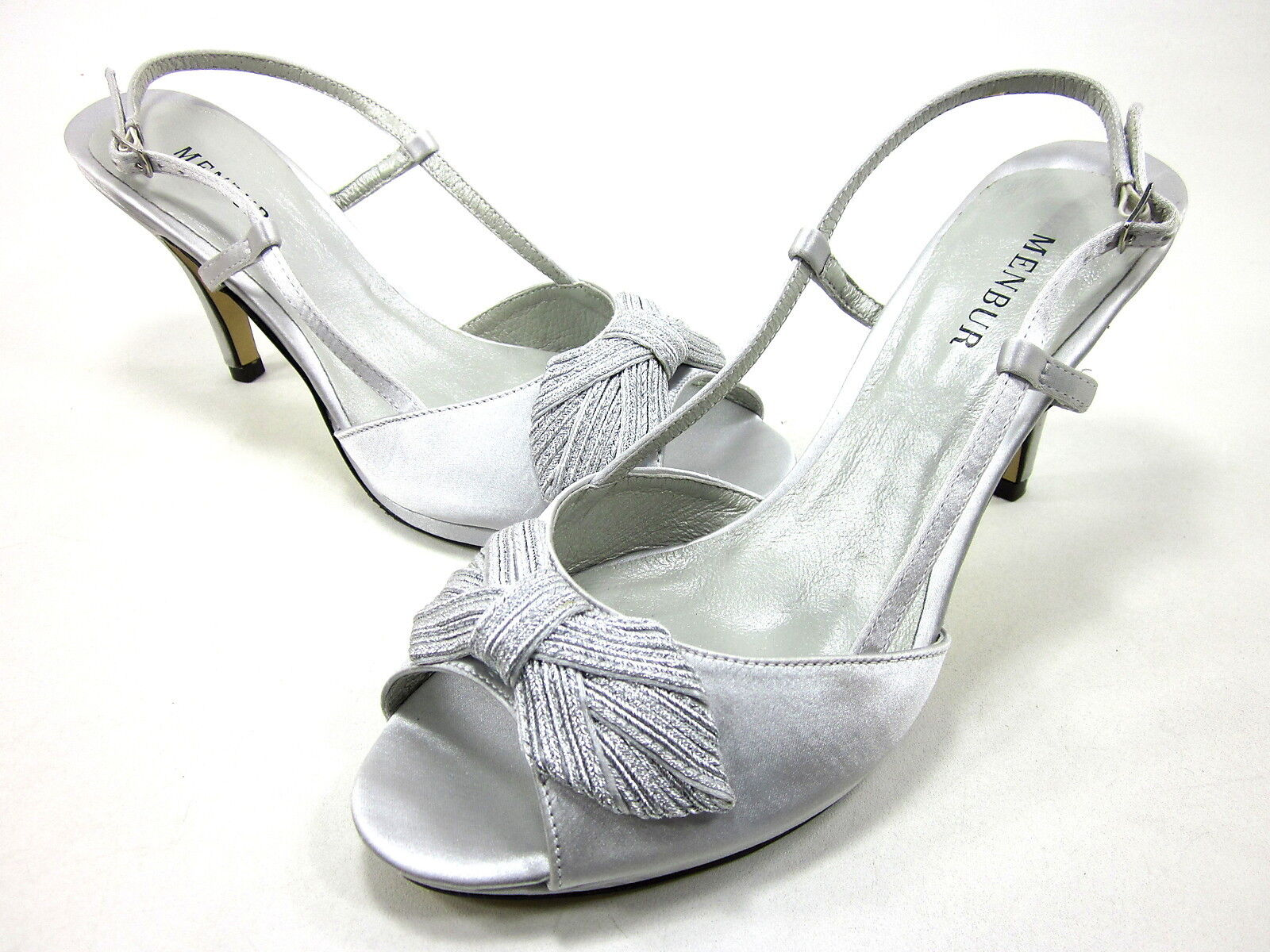 MENBUR, CECCARELLI PEEP-TOE PUMP, PEARL GREY, US 10M, EURO 40, NEW WITHOUT BOX
