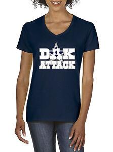 new style 4b8a5 af317 Details about Women's V-Neck Dak Prescott Dallas Cowboys