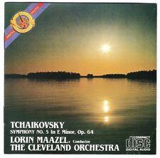 TCHAIKOVSKY Sym 5 MAAZEL CBS CD 36700 DIDC-7 Japan/eu early-1980s no barcode CSR