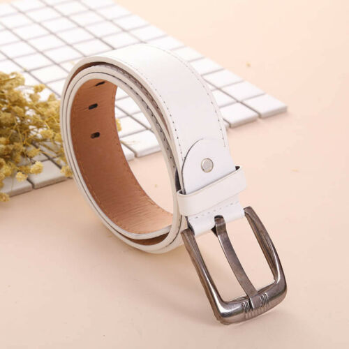 Adjustable Trendy Casual Simple Men Leather Belts Waistband Buckle Waist Strap