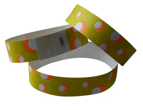 100 Tyvek-Eintrittsbänder-wristbands-bracelets gelb bedruckt Cheese-Käse-fromage