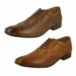 Base London' Cour' Gents BROWN Chaussures richelieu cuir chaussures habillées 8C2W0d07i