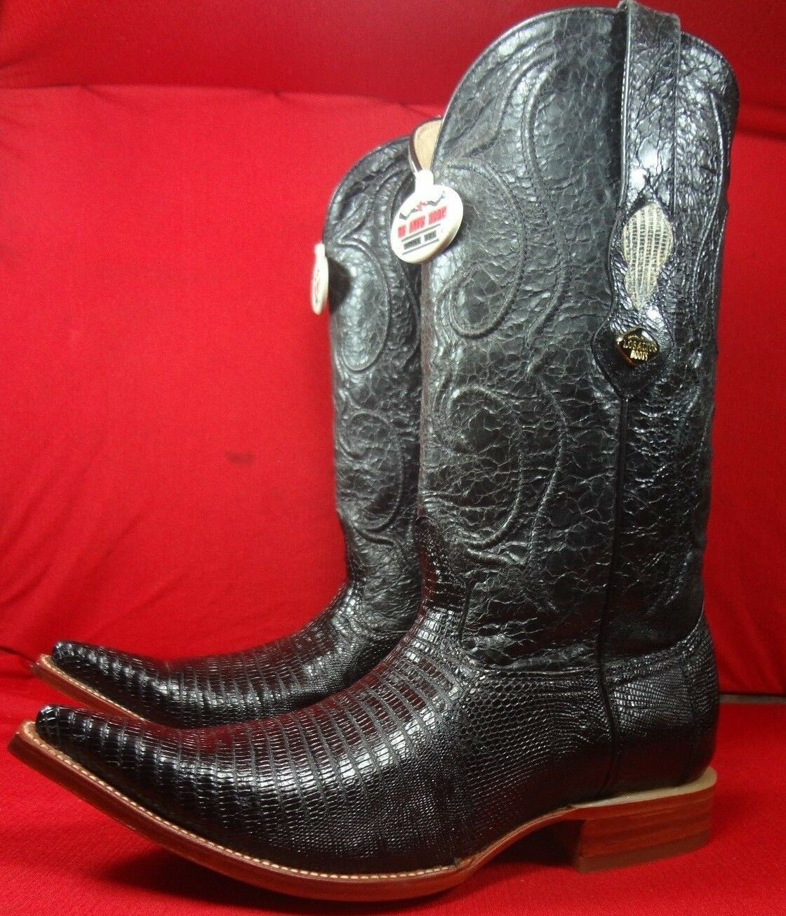 Mens Genuine Exotic  LIZARD TEJU Western Cowboy Boots By EL GENERAL (0018)