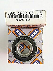 Rodamientos-lote-de-2-piezas-6001-2RSR-C3-marca-NKE-medidas-12x28x8mm