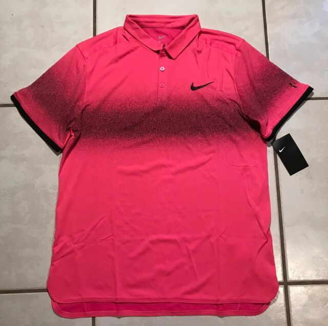 Nwt Nike Roger Federer Advantage Pink Tennis Polo Shirt Men S 2xl For Sale Online