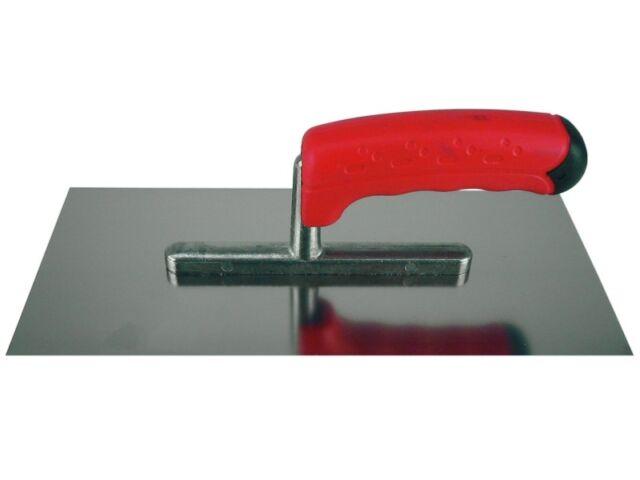Glättekelle mit Ergo-Kusto-Softgriff Spezialstahl 280x130 mm