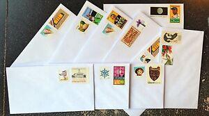 (10) 55cent Stamped Envelopes - #6 3/4 White Security Tint Standard Size Gummed