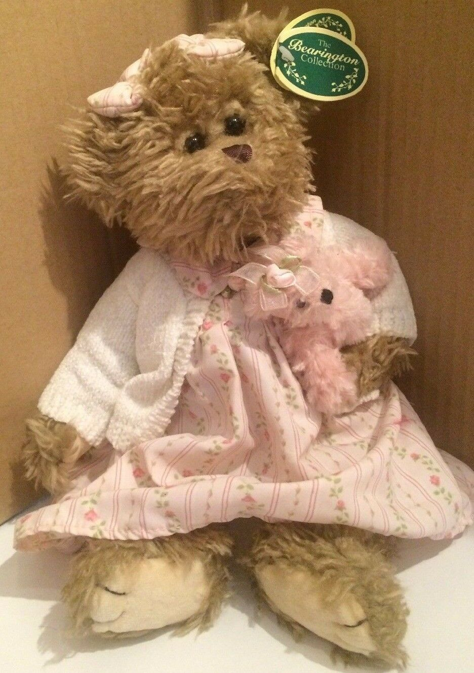 608ee8513 Bearington Collection NWT 13 Brandy With Rosa Baby Bear Rosa DRESS ...