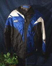 Nice Black Blue & White HJC Nylon Snowmobile Motorcycle Jacket Sz M