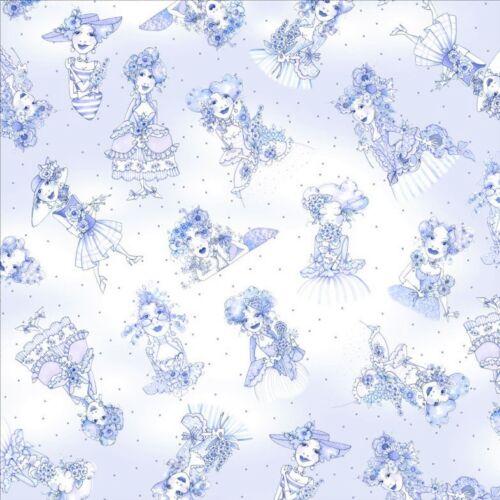 Loralie flora Bleu mujeres patchwork de tela de tela patchwork algodón Designer sustancia