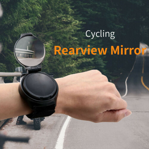 360° Rotate Arm Wrist Rearview Mirror for Bike Bicycle Cycling Mirror E4T4