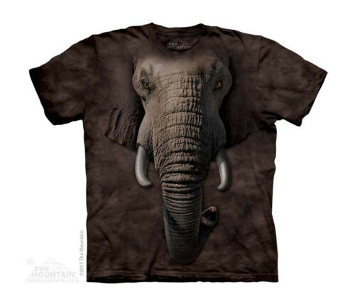 New BIG ELEPHANT FACE YOUTH CHILD  T SHIRT