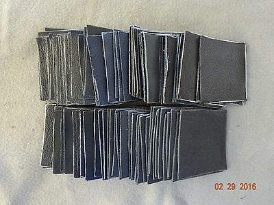 Scrap Leather Genuine Cowhide  Thick Dark Colors 4x4 inches 100 Pieces New