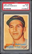 1957 Topps #328 Brooks Robinson PSA 8 Rookie Card - Outstanding print quality!