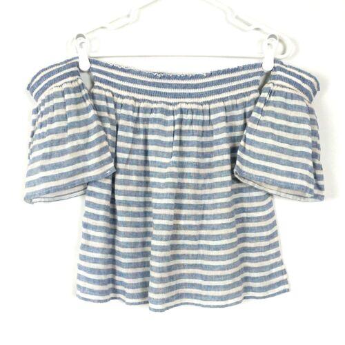 linnen off wit medium blauw Isabelle streep mix top New Rails Dames shoulder CsQrtdhx