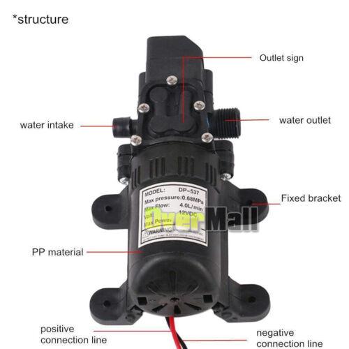 Other Pumps 4pcs 6L/min DC 12V 70W High Pressure Micro Diaphragm ...