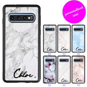 Details about Galaxy S10e S10 Plus Note 9 Bumper Case Marble Custom Name  Initial Personalised