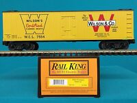 Mth Railking O/o27 30-7822 Wilson & Company Reefer