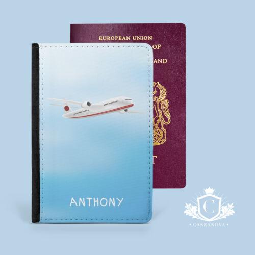 Personnalisé AVION Passport Cover Case de voyage portefeuille porte-CNP-124