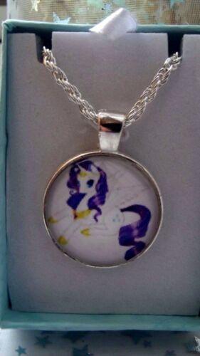 Mi Pequeño Pony Rareza Unicornio Collar tamaño 3,4,5,6,7,8,9,10 Años en Caja De Regalo