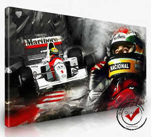 ayrton senna f1 mclaren bild leinwand wandbild bilder. Black Bedroom Furniture Sets. Home Design Ideas
