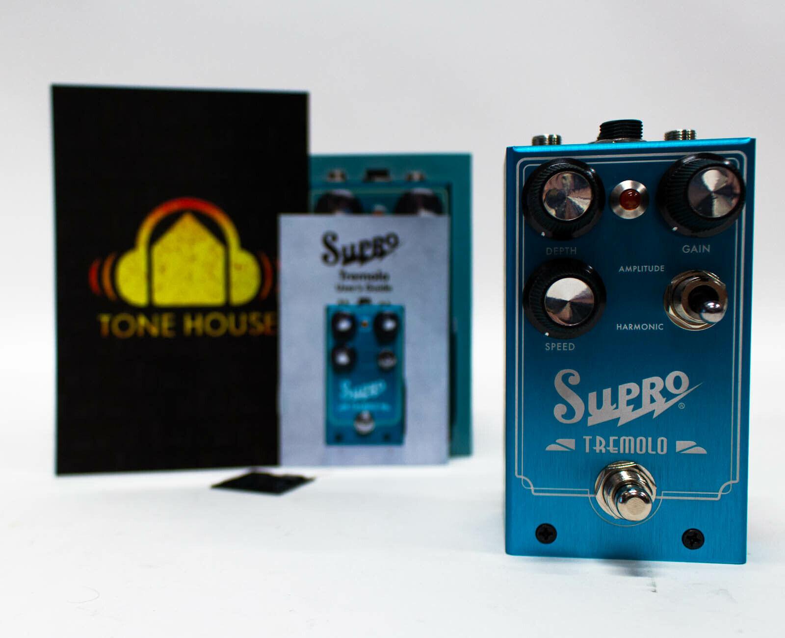 Supro Tremolo Amplitude and Harmonic Tremolo & Drive Guitar Effect Pedal NEW