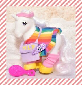 My-Little-Pony-G1-VTG-Flashprance-Dance-Rainbow-Pony-Wear-Clothing-Outfit