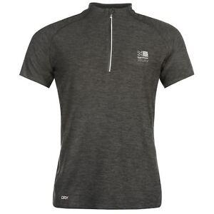 Karrimor-Correr-Mens-X-Cremallera-Camiseta-Camiseta-Top-Transpirable-Ligero-Mentonera