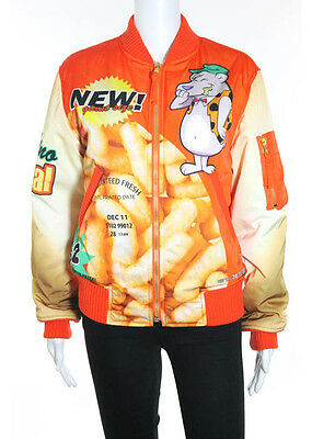 NEW AUTH MOSCHINO COUTURE Cartoon Graphic Full Zip Long Sleeve Jacket Sz S