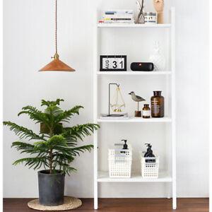 4-Tiers-Ladder-Plant-Flower-Pot-Shelf-Stand-Bookcase-Leaning-Garden-Storage-Iron