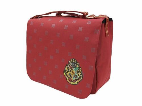 Harry Potter Crest Burgundy Messenger Despatch School College Uni Bag
