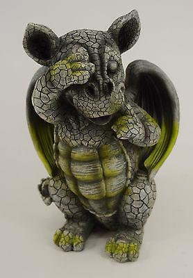 Dekobote, Poly Gargoyle H 24cm Gartenfigur Drachenkinder Terrasse Garten  Drache