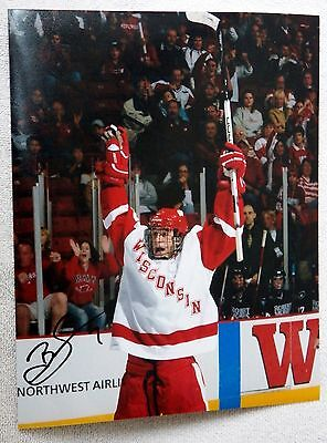Detroit Red Wings Brendan Smith Auto Wisconsin Badgers 8x10 Photo