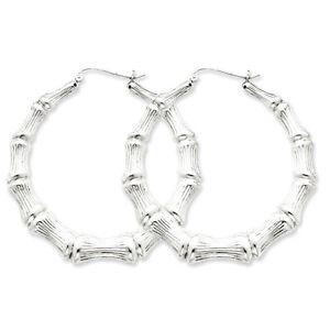 925-Sterling-Silver-Rhodium-Plated-Bamboo-Hinged-Hoop-Earrings-3mm-x-45mm