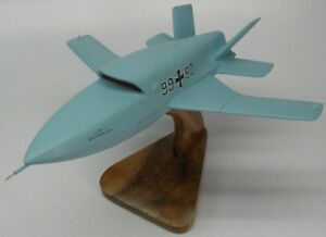 Eads Barracuda Combat Uav Airplane Desktop Kiln Dry Wood Model Large