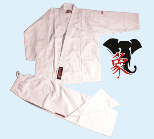 KARATEGI STUDENT WHITE BIANCO KARATE KEIKOGI JUJUTSU UNIFORM SUIT GI KARATEKA