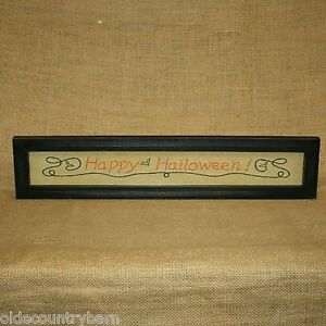 Happy-Halloween-Stitchery-Picture-Wall-Table-Decor-Country-Primitive