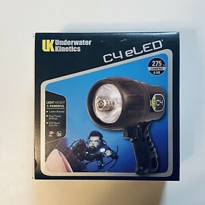 UK-UNDERWATER-KINETICS-C4-eLED-275Lumens-8Hr-Scuba-Dive-Light